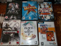 Set of 6 PC DVD games, make a great gifts