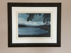 Oil Painting 'Storm Over Lake Ainslie'