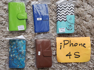 iPhone 4 Leather Wallet Cover Cases