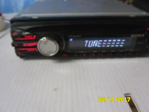 sony am/fm cd + aux out put for cell music + usb port