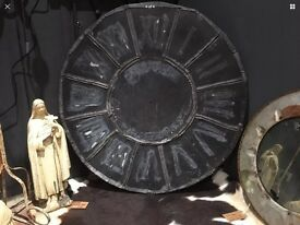 Antique Large French Clock Face Made From Zinc And Lead Decorative / Interior