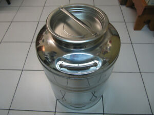 Classic Sansone 50Litre Stainless Steel Olive Oil Container Rare