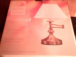 Bradford Brass Accent Table Lamp. New in Box.