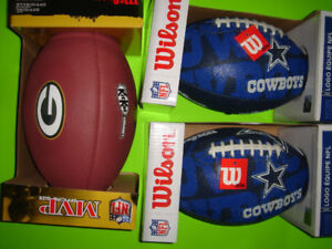 3 New Footballs (2 Junior, 1 Official Size) Brand New