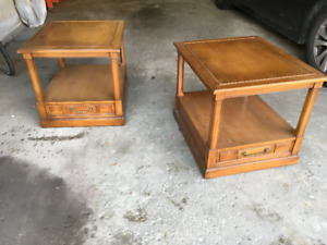 Mid Century Hekman Side Tables