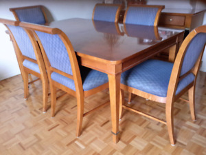 Dining table and chairs.  As Is
