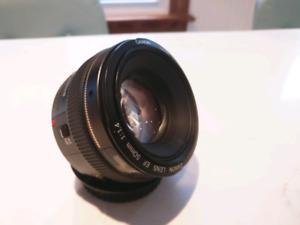 Canon EF 50mm 1.4 lens