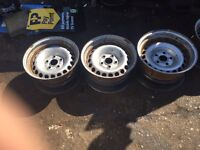 Banded steel wheels for vw!