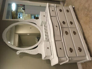Lamp white fusion painted dresser with mirror top