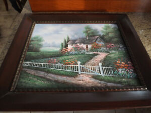 Cadre - Painting - Peinture - CLASSICAL OIL ON CANVAS COUNTRY SC