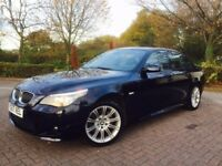 BMW 5 Series 3.0 525d M Sport Saloon 4dr Diesel Automatic FULL HISTORY, SAT NAV, LEATHERE