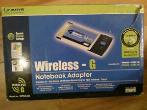 Wireless G 2.4Ghz Notebook adapter