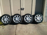 4 Michelin X-Ice Xi3 Tires(225/55/R17) on Sport Alloy Rims