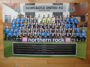 "2011/2012 Newcastle United FC Team Photo - 36"" x 24"""