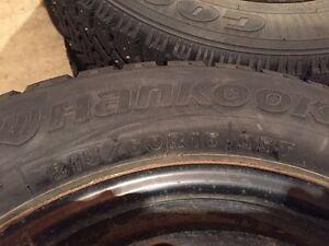 4 Studded winter tires on rims St. John's Newfoundland image 3