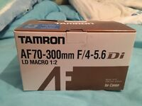Canon fit tamron 70-300mm lens