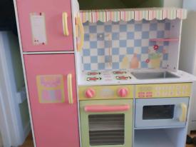 Childrens colourful wooden kitchen