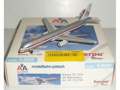 Herpa Wings 1:500 503273 Northwest b757-200w n536us ** RARE **