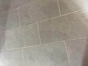 REDUCED -->Tile - Cera Gres (Silver Mat) 12 x 23 / $4.25 / sqft