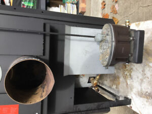 Oil gravity stove,