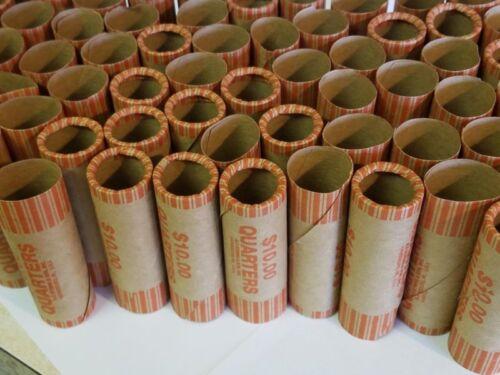 100 PREFORMED QUARTERS WRAPPERS ROLLS - Quarters Tubes