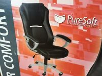 Black Leather Manager chair