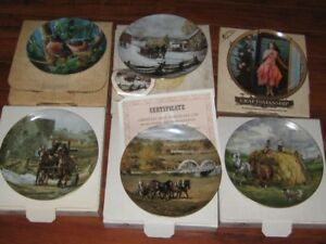 Various porcelain collector plates nice
