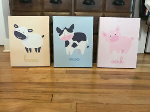 Baby Farm Animal Canvas Prints