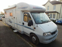 Adria Coral 660SL 4 x Berth Fiat 2.8 2006 Garage Model 2 x Single Beds