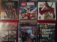 PS3 500 Go with wires, 2 controllers, 34 games