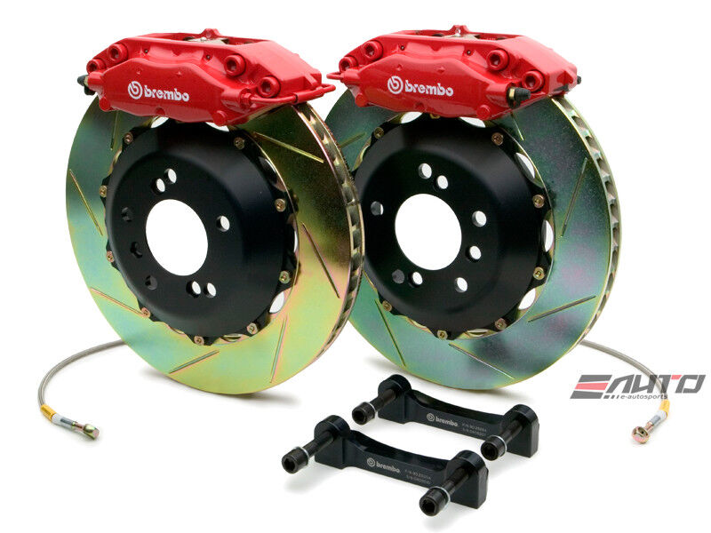 Brembo Front Gt Big Brake 4pot Caliper Red 320x28 Slot Rotor Mini R50 R52 R53
