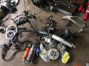 Motorcycle and parts