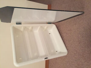 Bath room mirror with insert cabinet for sale