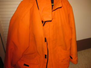 Militaire mens orange work jacket