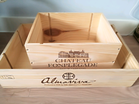 Wooden wine Boxes /Crates