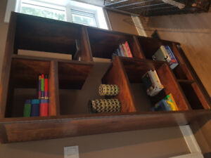 Book shelf. Iron and wood. Mint condition.