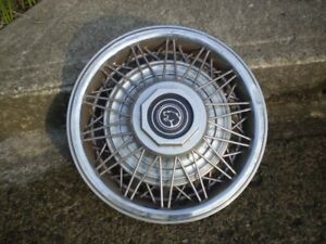 """Mercury Cougar / Grand Marquis wire wheel hubcaps 14"""" - $5"""