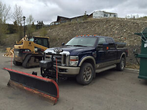 2008 Ford F-350 King Ranch Pickup Truck with Snow Plow & Sander