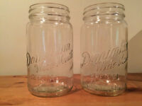 Antique canning jars