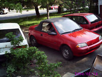 LOOKING FOR PARTS OR CARS FOR ANY GEO METRO 1989-01
