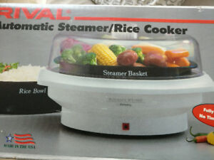 Rival Automatic Steamer/Rice Cooker 4450 Made USA New/UNUSED