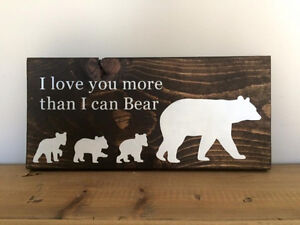 Hand Painted Woodland Decor Sign