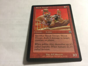 1999 SHOCK TROOPS #212 Magic The Gathering Mercadian Masques NM