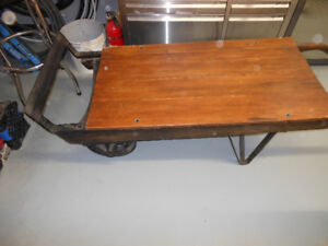 Antique keg dolly from Sleamans brewery