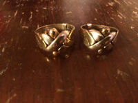 Matching White/ Yellow Gold Puzzle Rings for sale