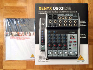 CAD trion 8000 + Behringer XENYX Q802USB + Mic stand+ Pop filter West Island Greater Montréal image 8