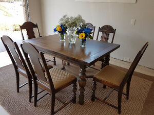 Gorgeous Solid Wood Antique Dining Set