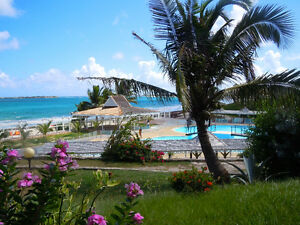 Vacation on Orient Beach, St Martin 1 to 1 Canadian to $ pricing