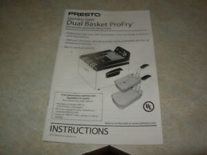 PROFESSIONAL DOUBLE BASKET DEEP FRYER - ALMOST NEW