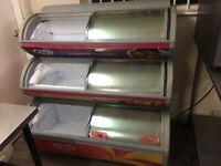 Walls 3 deck ice cream freezer + coke fridge for sale